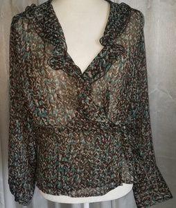 Wrap blouse by Worthington
